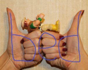 путают b и d